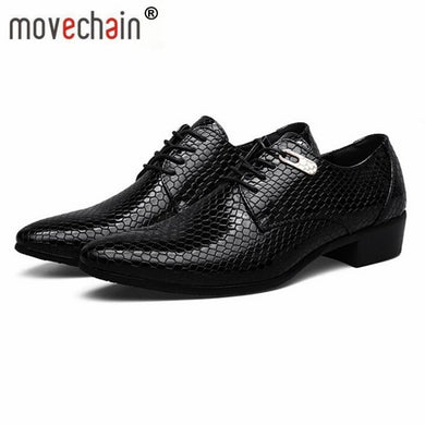 Men's Snakeskin Grain Leather Shoes