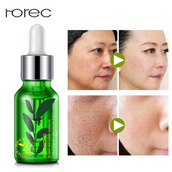 ROREC Green Tea Seed Hydrating Serum Skin Care Whitening Nourish Treatment Anti Wrinkle Anti Aging For Face Fine Lines Face 15ML