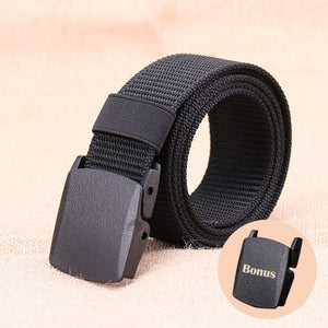 Men Nylon Army Belts