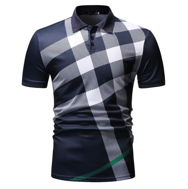 Men's Summer Casual Polo T Shirts Slim