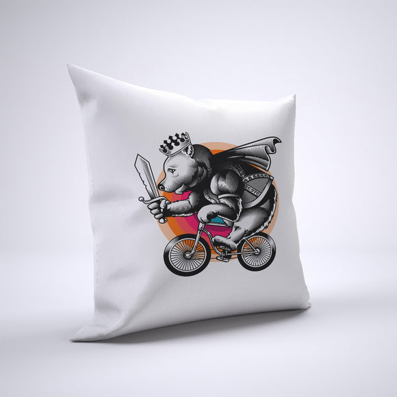 Bear Pillow Cover Case 20in x 20in - Animals On Bike Pillows