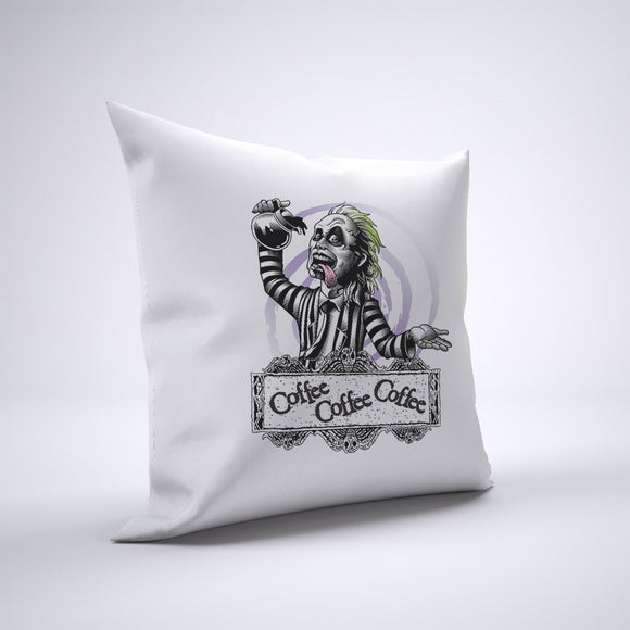 Beetlejuice Coffee Pillow Cover Case 20in x 20in - Funny Pillows