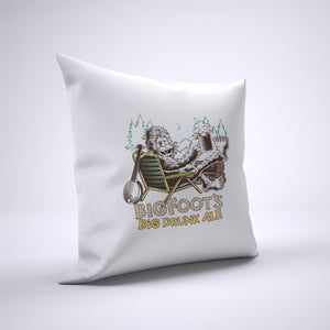 Bigfoot's Ale Pillow Cover Case 20in x 20in - Funny Pillows