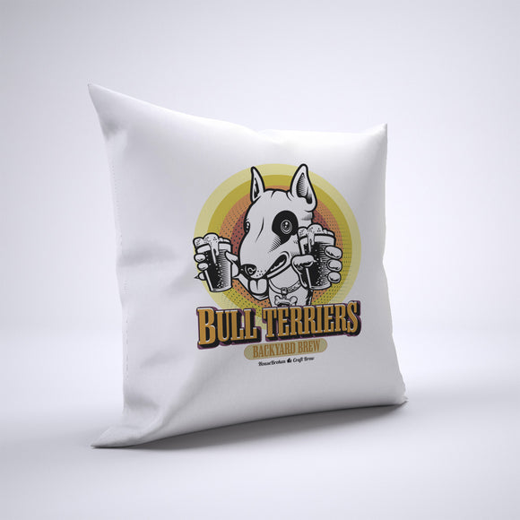 Bull Terrier Pillow Cover Case 20in x 20in - Craft Beer Pillows