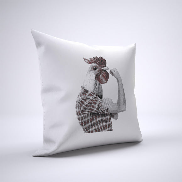 Chicken Head Pillow Cover Case 20in x 20in - Funny Pillows