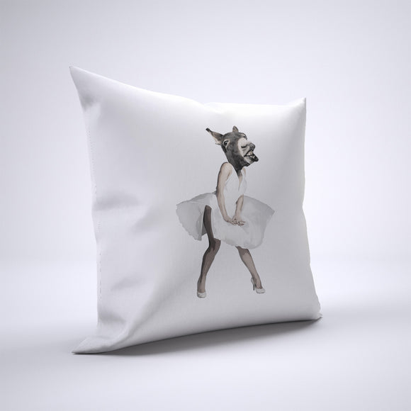 Marilyn Donkey Pillow Cover Case 20in x 20in - Funny Pillows