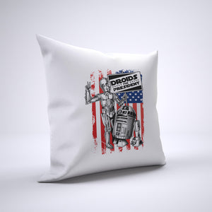 R2D2 And 3CPO For President Pillow Cover Case 20in x 20in - Funny Pillows