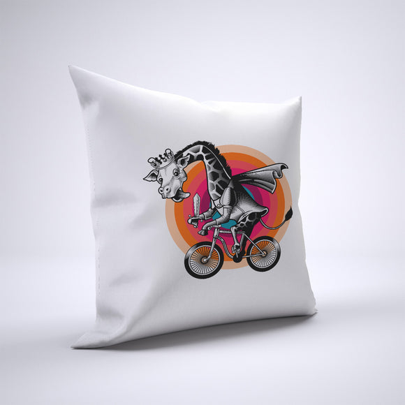 Giraffe Pillow Cover Case 20in x 20in - Animals On Bike Pillows