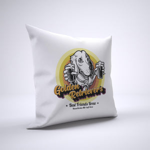 Golden Retriever Pillow Cover Case 20in x 20in - Craft Beer Pillows
