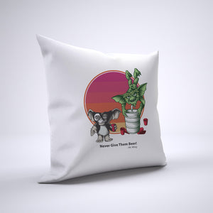 Gremlins Keg Pillow Cover Case 20in x 20in - Funny Pillows