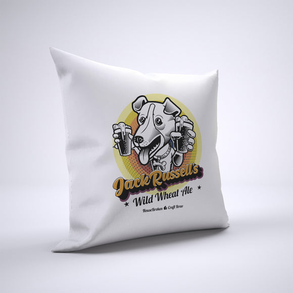 Jack Russell Pillow Cover Case 20in x 20in - Craft Beer Pillows
