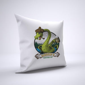 Loch Ness Monster Ale Pillow Cover Case 20in x 20in - Funny Pillows