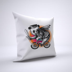 Panda Pillow Cover Case 20in x 20in - Animals On Bike Pillows