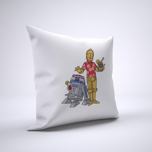 R2D2 And C3PO Tiki Pillow Cover Case 20in x 20in - Funny Pillows