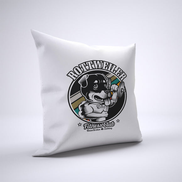 Rottweiler Pillow Cover Case 20in x 20in - Gym Pillows