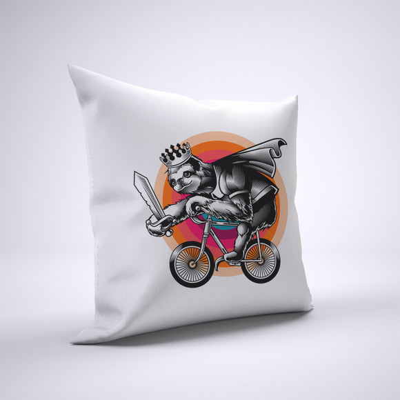 Sloth Pillow Cover Case 20in x 20in - Animals On Bike Pillows
