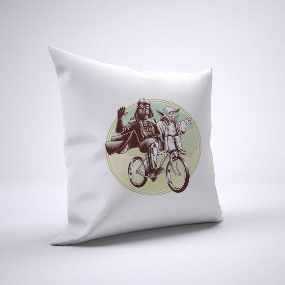 Yoda And Darth Vader Bike Pillow Cover Case 20in x 20in - Funny Pillows
