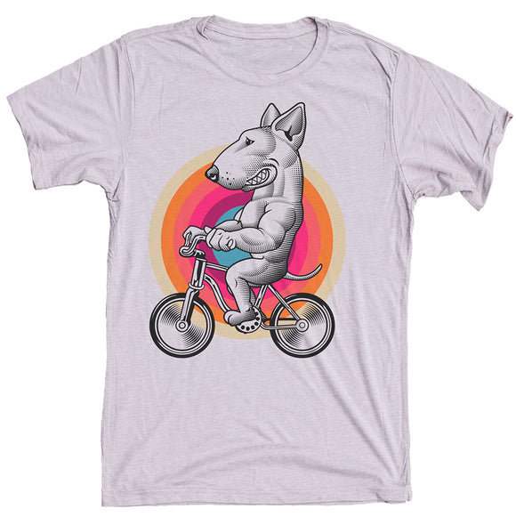 Bull Terrier On Bike Dog Shirt
