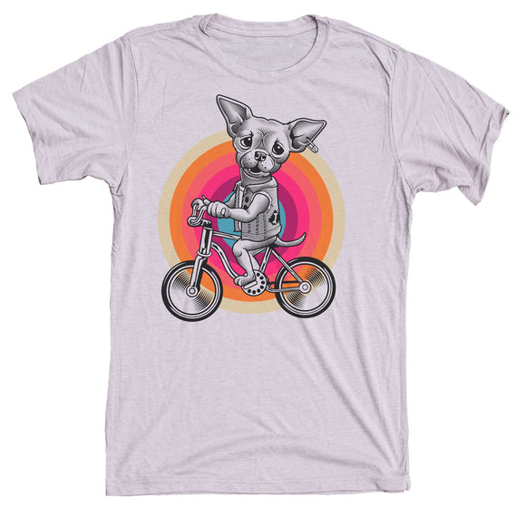 Chihuahua On Bike Dog Shirt