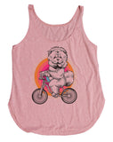 Chow On Bike Dog Shirt
