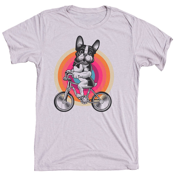 French Bulldog On Bike Dog Shirt