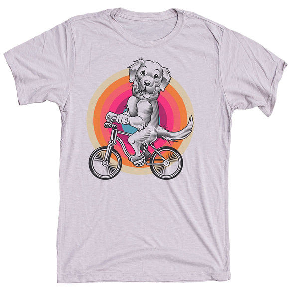 Golden Retriever On Bike Dog Shirt