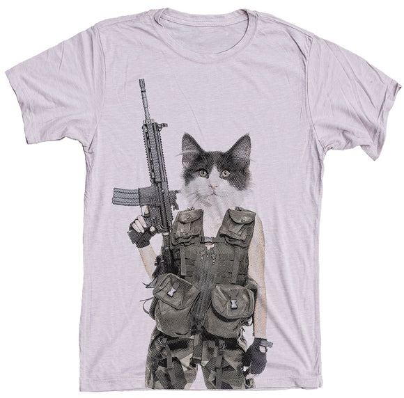 Machine Gun Cat Shirt