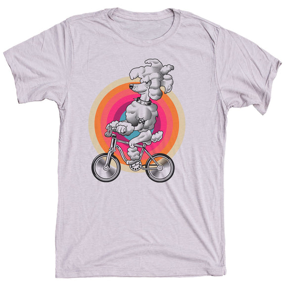 Poodle On Bike Dog Shirt