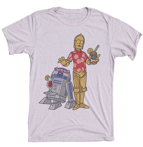 R2D2 And C3PO Tiki Shirt