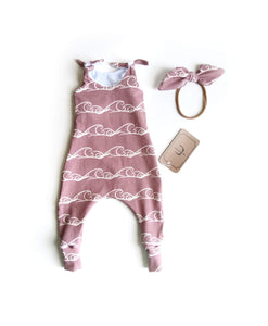 Pink waves Romper Outfit