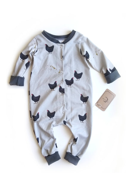 Barred rock chickens sleeper - Organic Euro Cotton