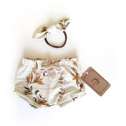 Autumn fall organic cotton shorts