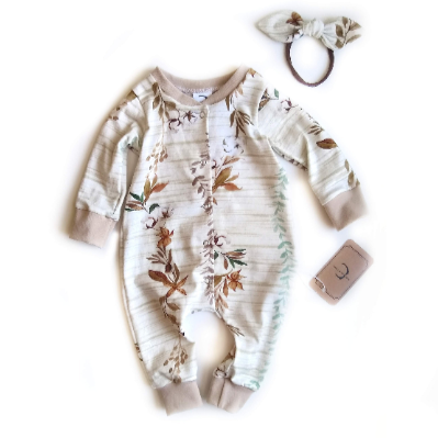 Organic cotton floral sleeper