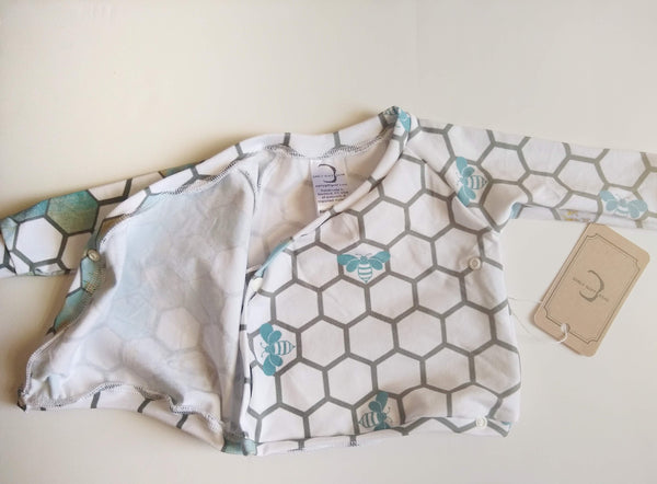 Honey Bee Outfit - Blue & Gold Honeycomb