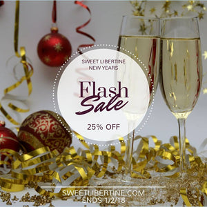 25% off Flash Sale - Happy New Year!