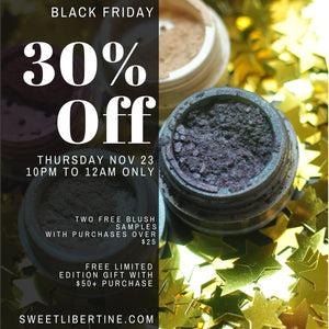 Black Friday Sale: 30% off Sweet Libertine Cosmetics