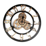 Horloge Steampunk Engrenage or