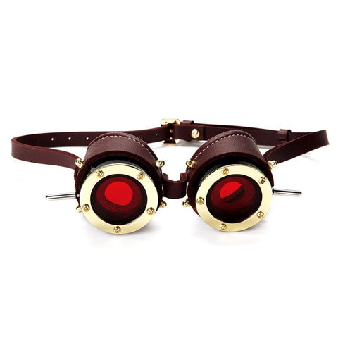 Lunette Steampunk Rouge