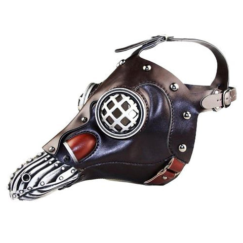 Masque Corbeau Steampunk marron