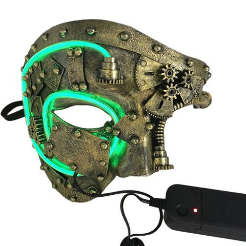 Demi Masque LED Steampunk or