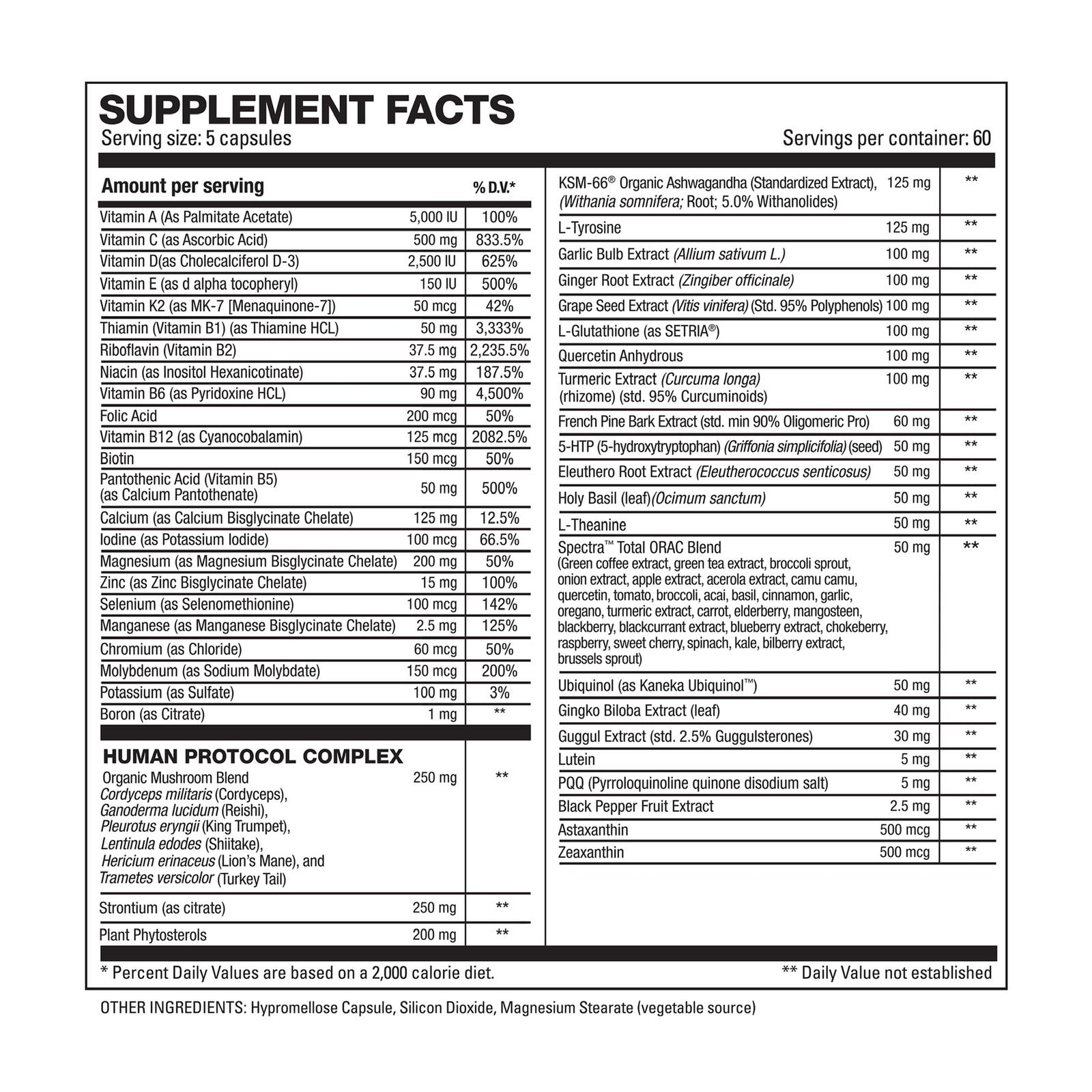 Vita Hd Nutrition Facts