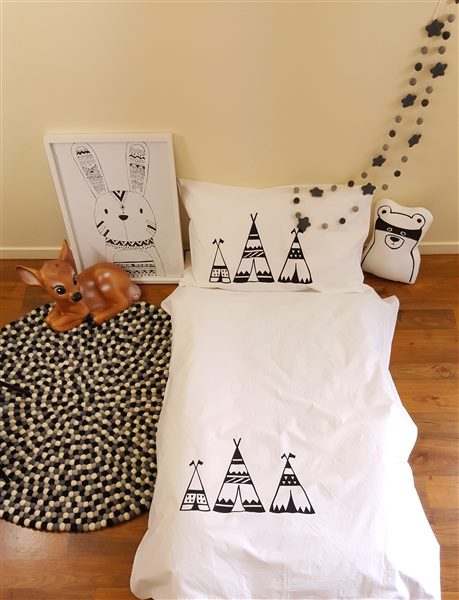 TeePee Duvet Cover Cot Size