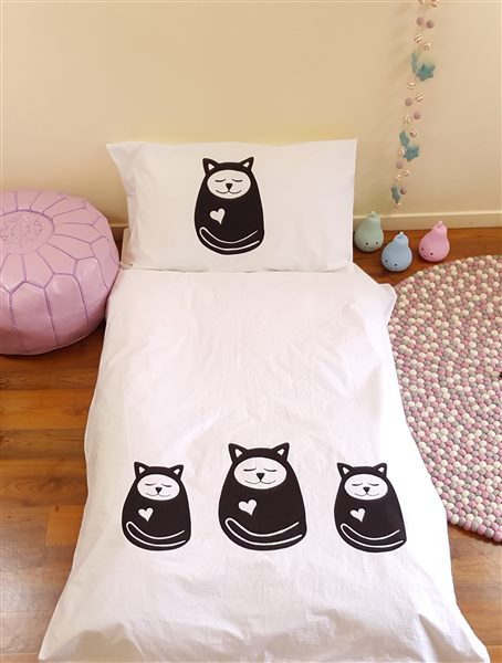 Sleepy Cat Duvet Cover Cot Size