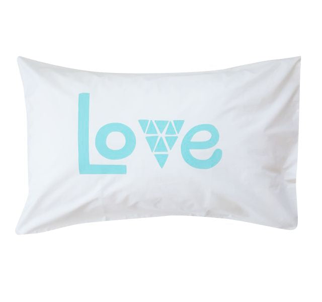 Love Aqua Pillowcase