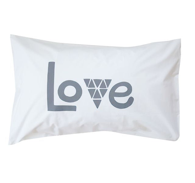 Love Charcoal Pillowcase