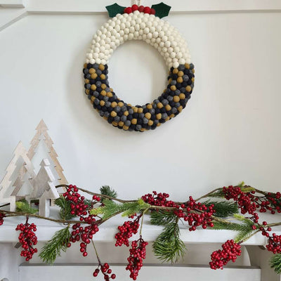 Christmas Pudding Wreath