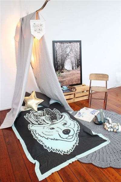 The Fox Toddler Blanket by Burrow & Be