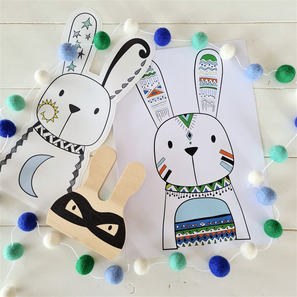 Bunny Wall Decor Bundle Green