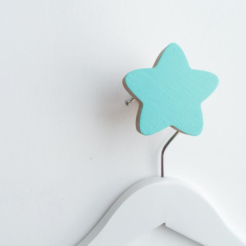 Mint Star Wall Hook