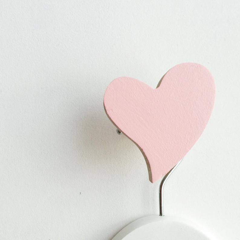 Baby Pink Heart Wall Hook